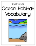 Spanish and English Ocean Habitat Vocabulary