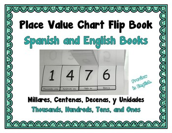 Place Value Flip Chart Book Bundle - Spanish and English