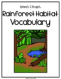 Spanish and English Rainforest Habitat Vocabulary