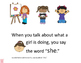 Spanish and English School Actions pronouns, present progressive, auxiliary verb