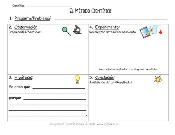 Spanish and English Scientific Process Graphic Organizer