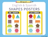 Spanish and English Shapes Posters | Set of 2
