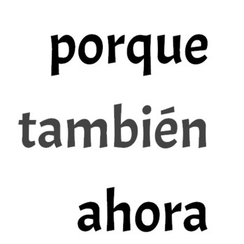 Spanish and English Useful Words in Poster Size Font