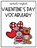 Spanish and English Valentine's Day Vocabulary