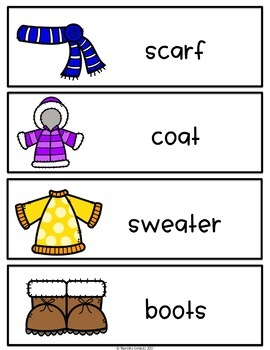 Spanish and English Winter Vocabulary