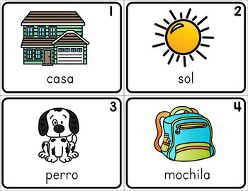 Spanish and English Write the Room - Set 1