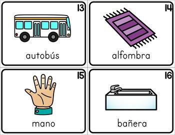 Spanish and English Write the Room - Set 2
