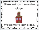 "Spanish and English ""where we are"" signs for the classroom"
