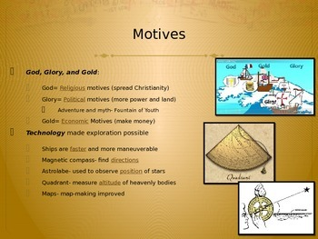 Spanish and Portuguese Exploration & Motives PowerPoint