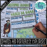 Spanish and Portuguese Explorer Doodle Notes and Digital Guided Notes