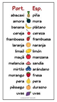 FREE Spanish and Portuguese Fruit Comparison (PDF)