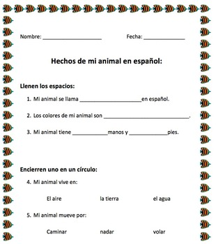 Spanish animals-Facts about animal page