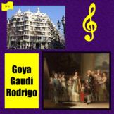 Goya, Gaudí, Rodrigo; 3 interdisciplinary thematic units -