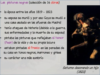 Spanish art - Goya notes