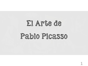 Spanish art - Picasso notes