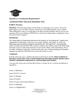 Spanish as a Graduation Requirement?  Synthesis/Source Based Writing