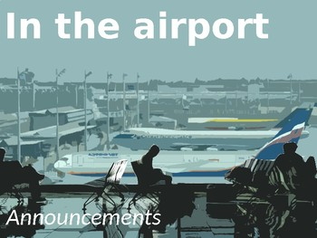 French - at the airport - announcements, listening
