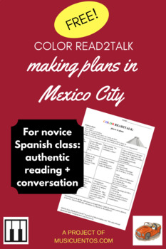 Spanish authentic reading activity: Making plans in Mexico City