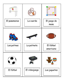 Spanish basic vocabulary bingo 1