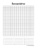 Buscapalabras : Spanish blank word search