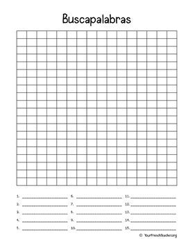 buscapalabras spanish blank word search by your french teacher