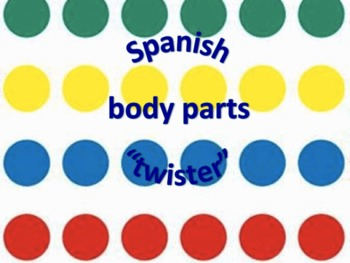 "Spanish body parts ""twister"""