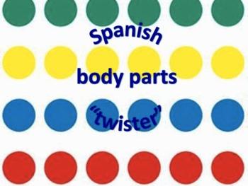 "Spanish body parts ""twister"""