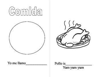 Comida-Spanish workbook