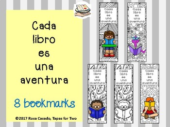 Spanish bookmark cada libro es una aventura