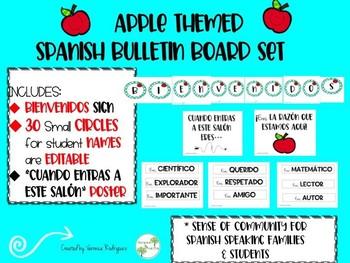 Spanish bulletin board set