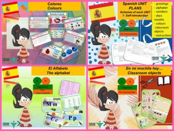 Spanish bundle 1 first lessons back to school
