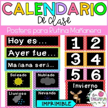 Spanish calendar Pack/ El calendario