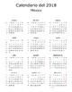 Spanish calendar activity