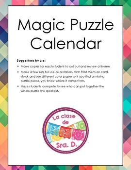El calendario - Magic Puzzle