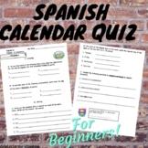 Spanish calendar quiz