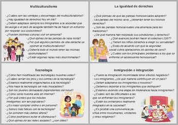 Spanish cards / Translations - different topics (Intermediate level)