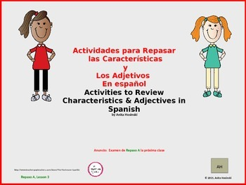 2nd year spanish asi se dice Repaso A teacher lesson 3 on power point
