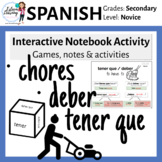 Spanish Lesson on Chores - Quehaceres, Tener Que & Deber