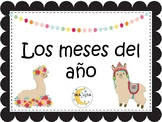 Llama classroom decor spanish    Los meses del año