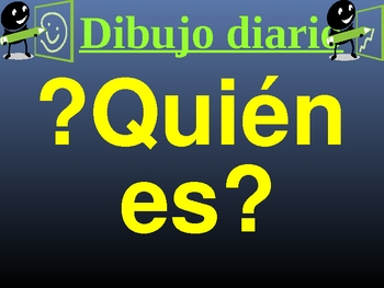 Spanish class warm-up: date, weather, and mystery student