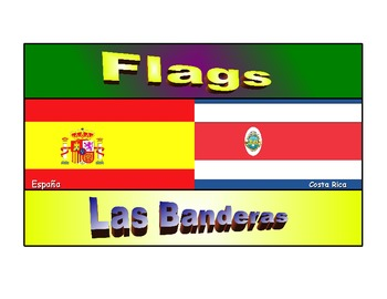 Spanish classroom display borders ,flags of spanish speaking countries .