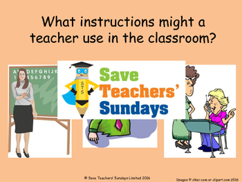 Spanish classroom instructions Lesson plan, PowerPoint (with audio) & Flashcards