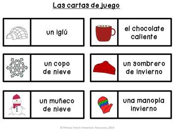 Spanish winter bingo