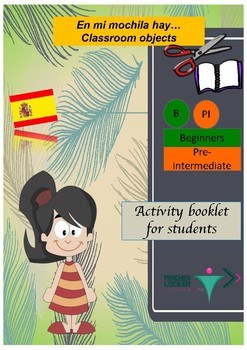 Spanish classroom objects booklet for beginners