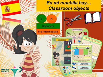 Spanish classroom objects full lesson for beginners