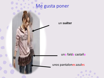 Spanish clothes, la ropa full lesson for beginners