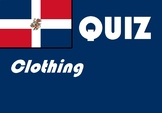 Spanish clothing quiz or worksheet distance learning