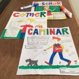Spanish color by conjugation bundle ~Spanish verb practice ~no prep printable
