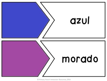 Spanish colors - Flashcards and Games