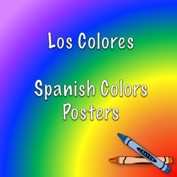 Spanish colors poster